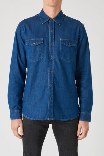 Waits Denim LS Shirt - Groove Zero