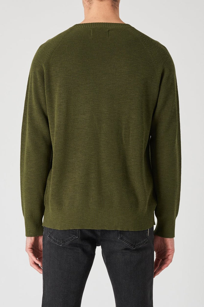 Syngle Linen Knit - Military