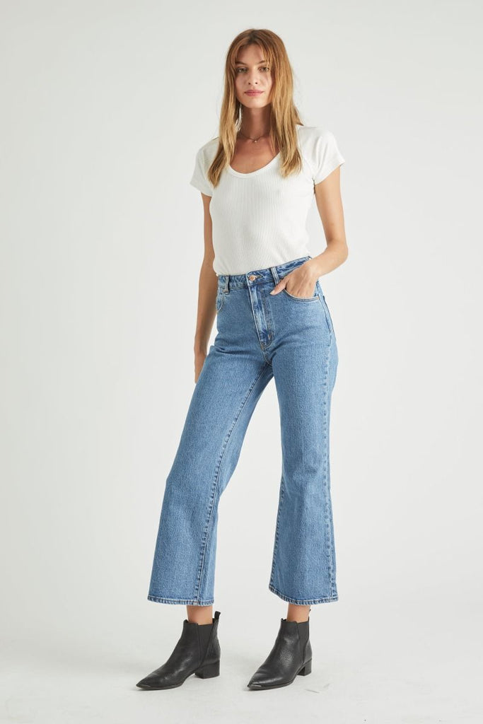 Eastcoast Crop Flare - Cindy Blue