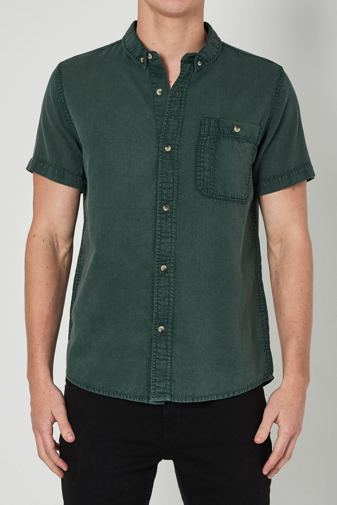 Union Bedford Cord Shirt - Trade Green