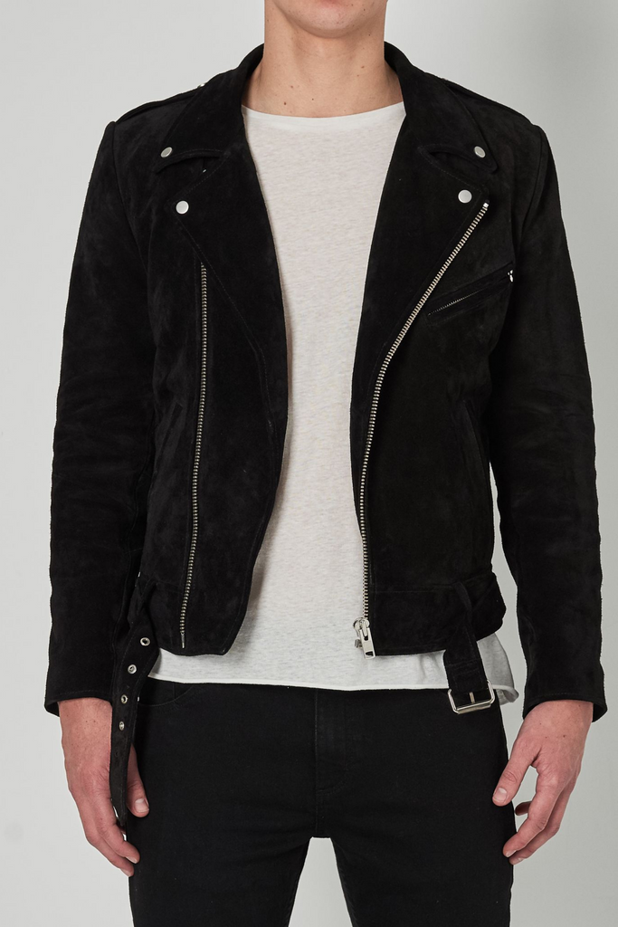 Dive Suede Jacket - Black Suede