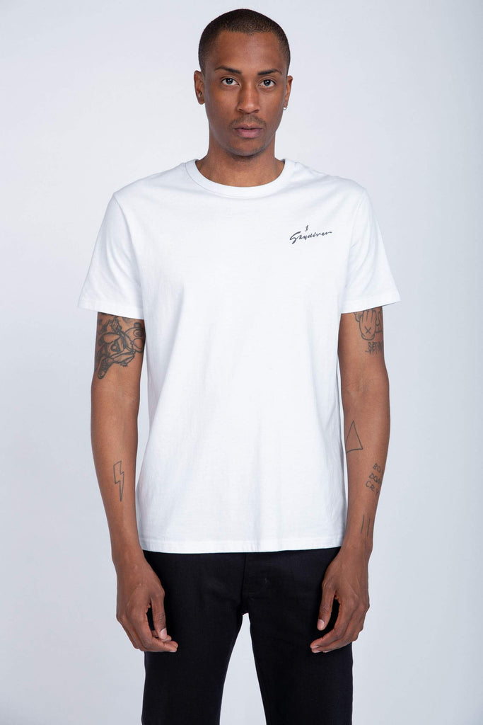 Skydiver Band Tee - White