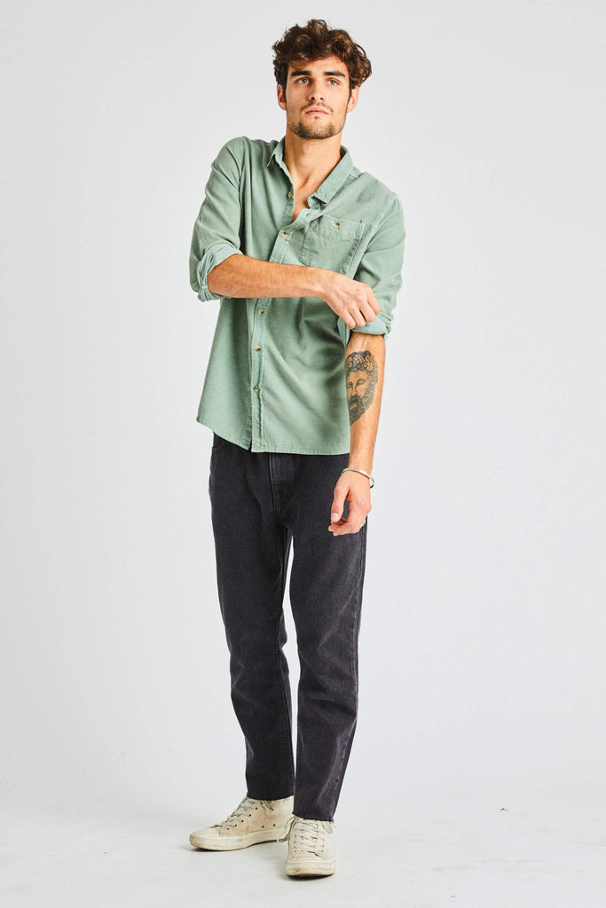 Men at Work Cord Shirt - Moss
