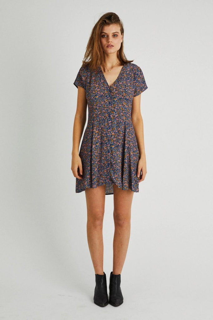 Milla Coast Floral Dress - Blue