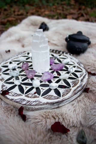 Selenite and Crystal Grid