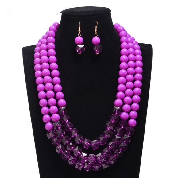 Multi-layer Big Size Imitation Pearl Jewelry Set