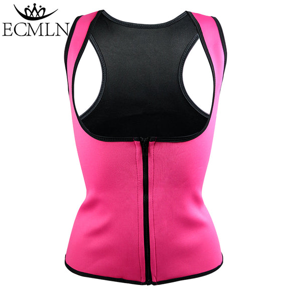 Thermo Sweat Neoprene Slimming Waist Trainer Vest Women Shaper