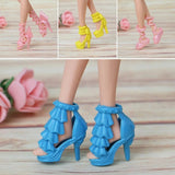 60 Pairs Trendy Mix Assorted Doll Shoes Multiple Styles