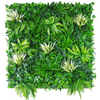 White Grassy Greenery Vertical Garden / Green Wall UV Resistant 100cm x 100cm