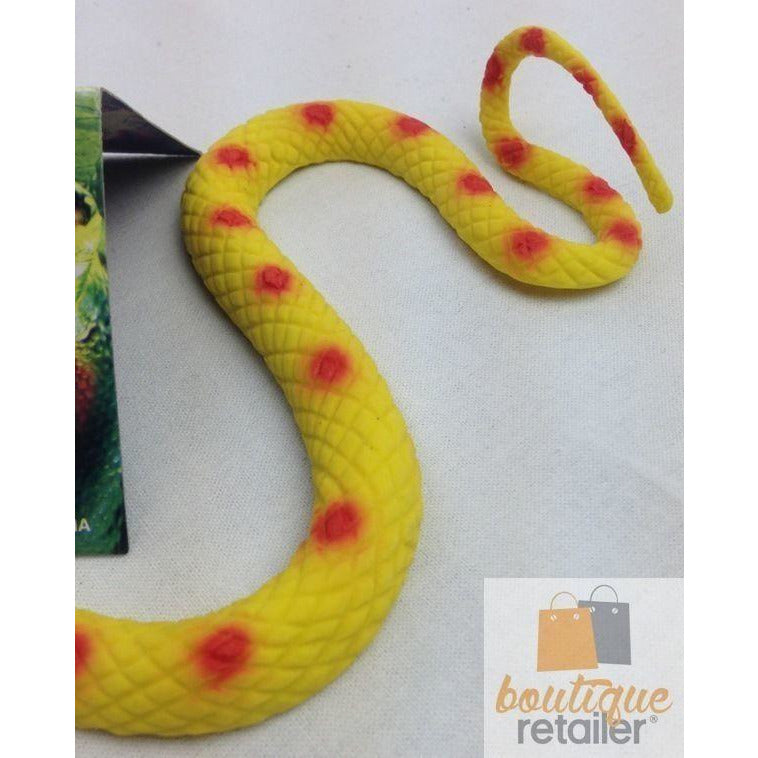 RUBBER SNAKE Halloween Fake Toy Soft Party Prop Trick Yellow New