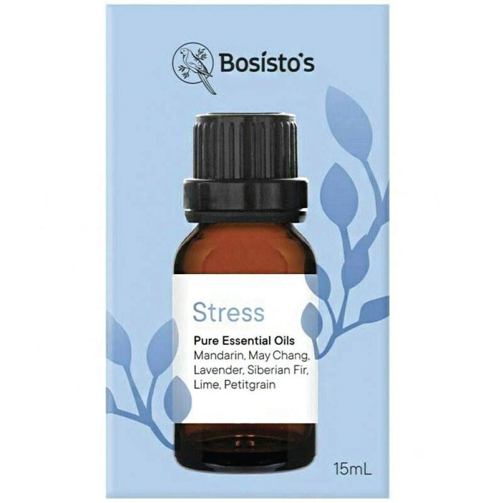15ml Stress Essential Oils Blend Bosisto's Pure Calm Mood Aromatherapy Diffuser
