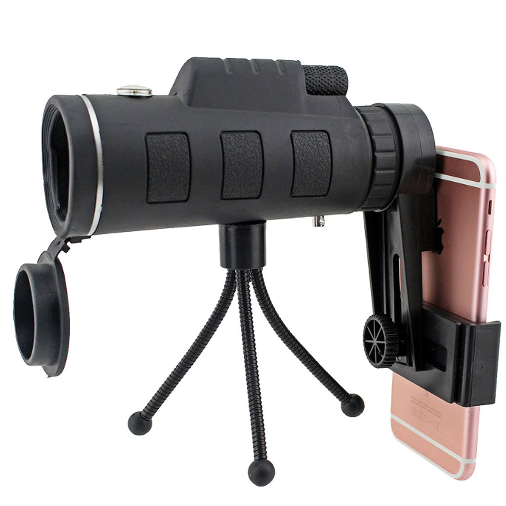 HD Ajustable Waterproof 40X60 Zoom Optical Lens Monocular Telescope with Tripod For Outdoor Camping Traveling