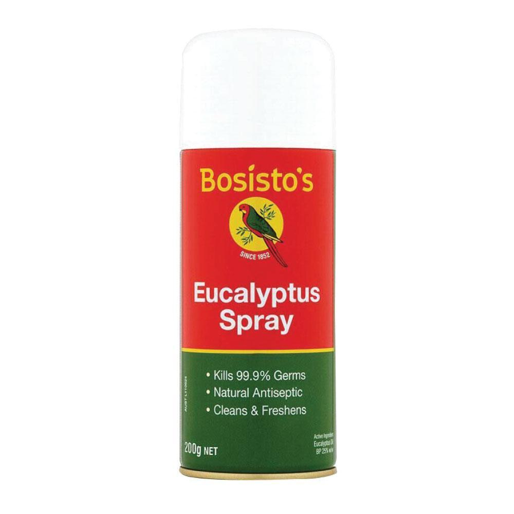 200g Eucalyptus Spray Bosisto's Natural Antiseptic Kills Germs 99.9% Bosistos