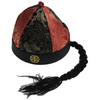 CHINESE LANDLORD HAT Oriental Asian Cap w Ponytail Party Costume Traditional