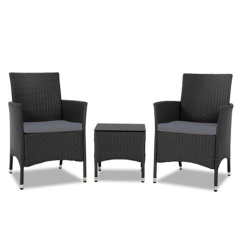 3 PIECE RATTAN OUTDOOR FURNITURE SET - Loungeout