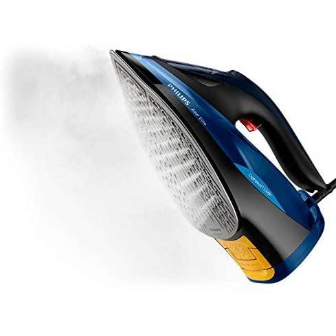 Philips Azur Elite Steam Iron with OptimalTEMP Technology, 240g Steam Boost & Safety Automatic Shut-Off, 2400W, Black/Blue, GC5031/20
