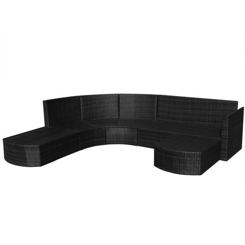 GARDEN SOFA POLY RATTAN SET (16 PCS) - Loungeout