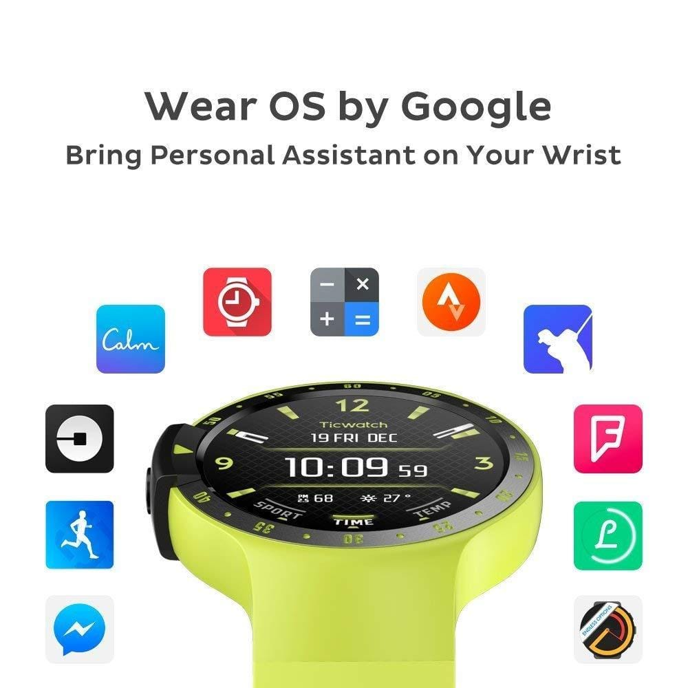 Ticwatch E Ice Most Comfortable Smart Watch,1.4 inch OLED Display, Android Wear 2.0,Compatible with iOS and Android, Live an Organized Life