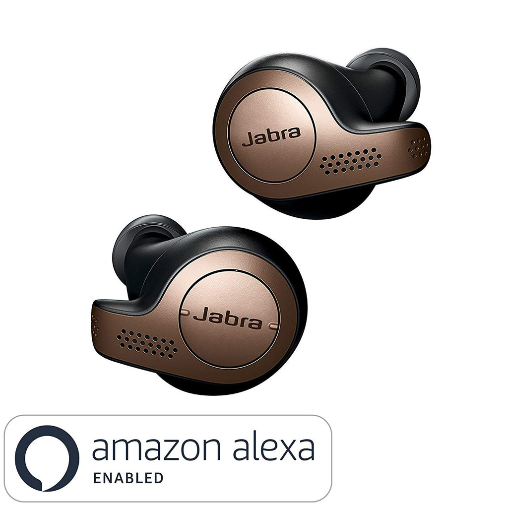 Jabra Elite 65t True Wireless Earbuds Bluetooth in-Ear Headphones with Earphones Charging Case, Titanium Black