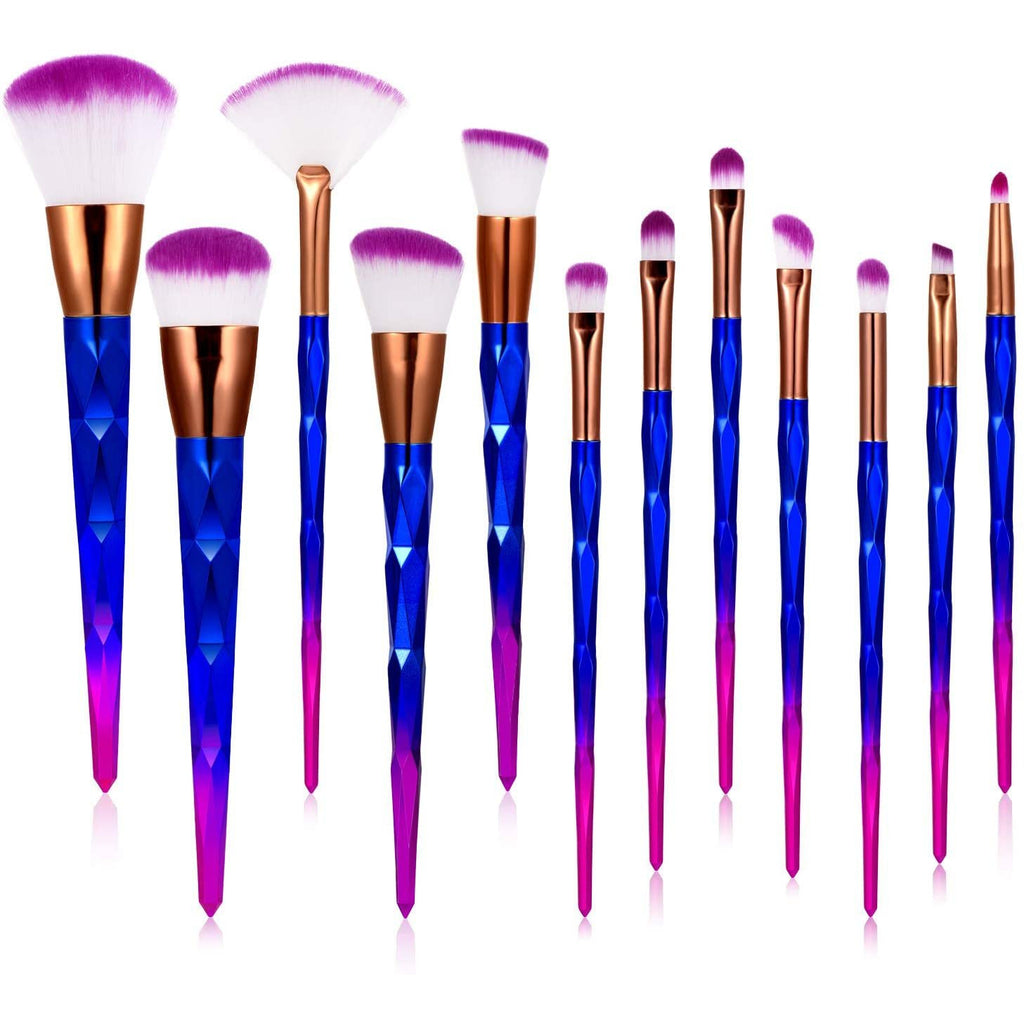 Makeup Brush, Toplus 12pc Makeup Brush Set Premium Synthetic Foundation Brush Blending Face Powder Blush Concealers Eye Shadows Make Up Brushes Kit