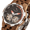 Men's Dual Wheel Automatic Walnut Wood Watch - For High End Watch