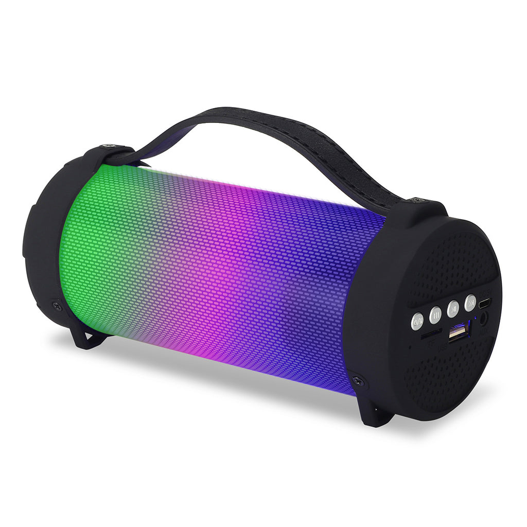 Portable LED Colorful Wireless bluetooth Speaker FM Radio TF Card 3.5mm Audio Stereo Speaker for iPhone Xiaomi Huawei