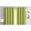 2x 100% Blockout Curtains Panels 3 Layers Eyelet Avocado 180x230cm