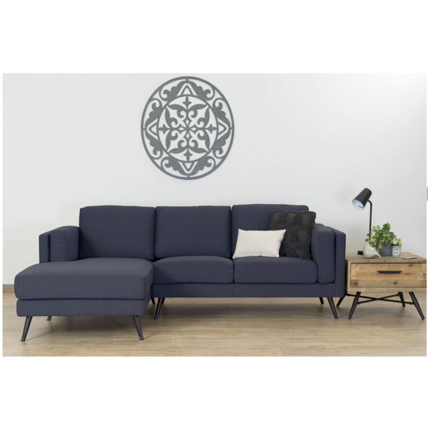 Alfred 2.5 + Chaise Sofa Charcoal