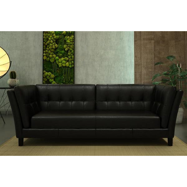 Axton 3 Seater ( Black ) - Loungeout