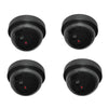 4x DUMMY SECURITY CAMERA Fake Dome Surveillance Flashing LED Wireless Imitation