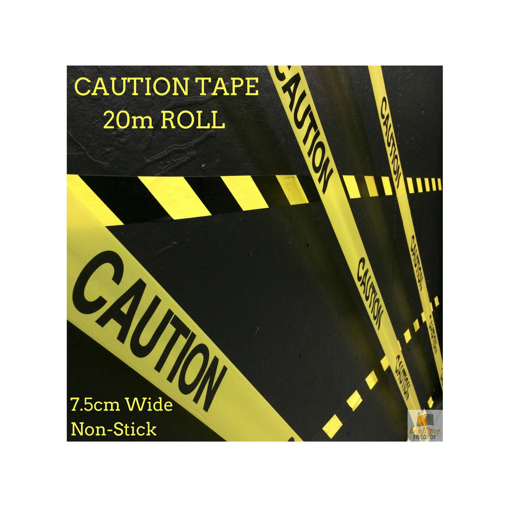 CAUTION TAPE Yellow Safety Warning Barricade Industrial Strip Non-Stick 20m New