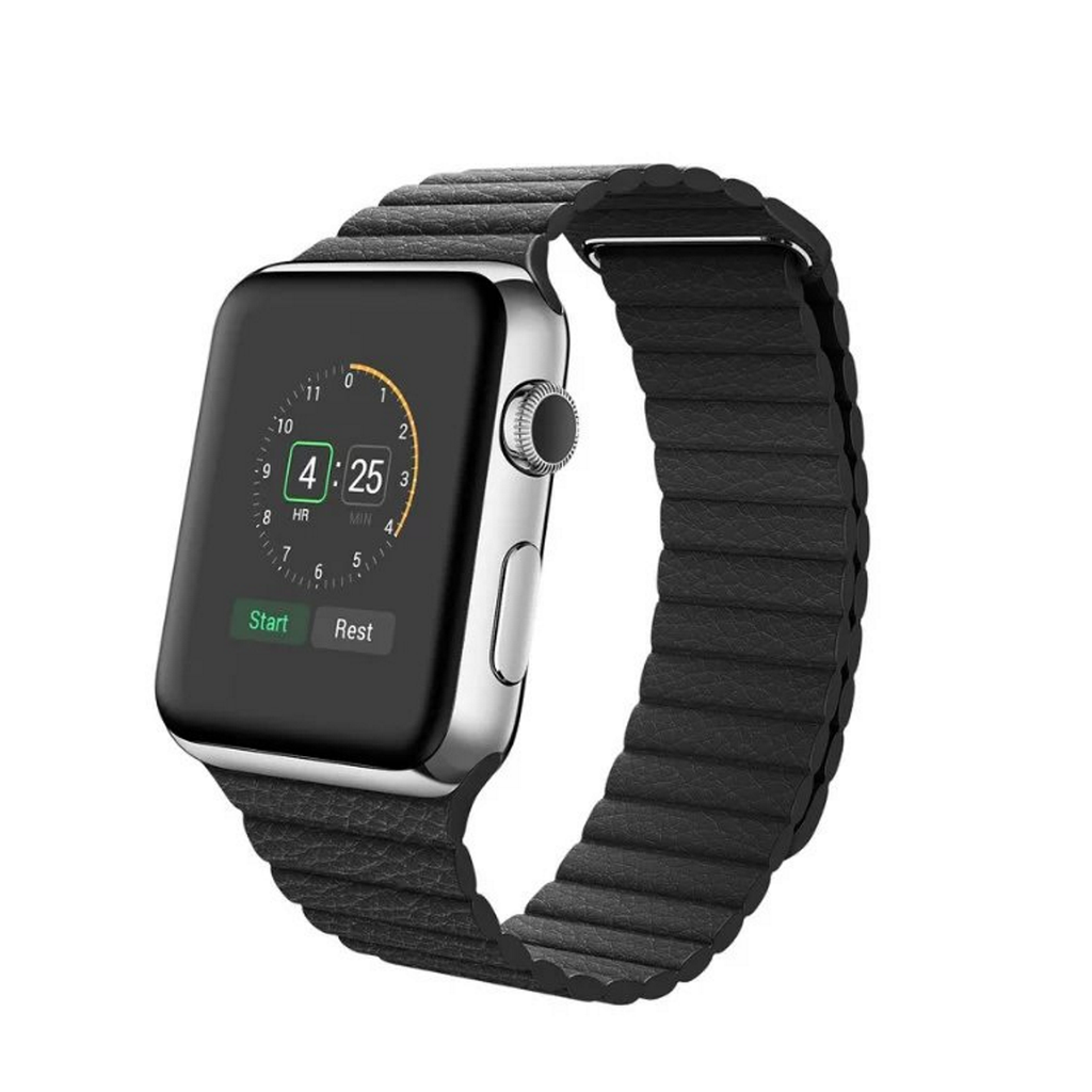 Apple Watch Band Leather Loop with Adjustable Magnetic High-fiber Bracelet Strap for Apple Watch 42mm