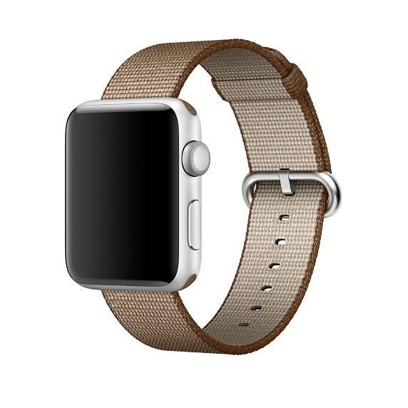 Apple Watch Strap Replacement Handmade 42mm Coffe Woven Nylon Band