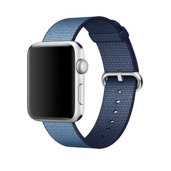 Apple Watch Strap Replacement Handmade 42mm Lake Blue Woven Nylon Band