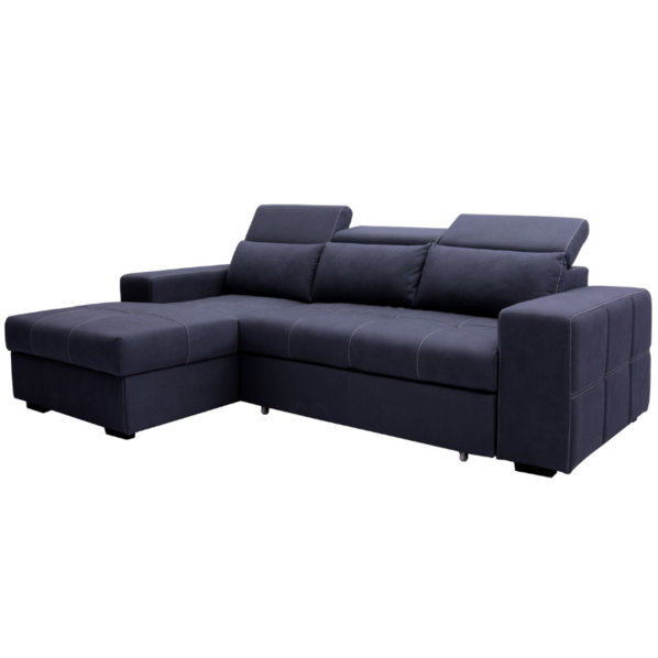 Francis 2 Seater with Chaise/Pullout Sofa Bed/Storage Chaise