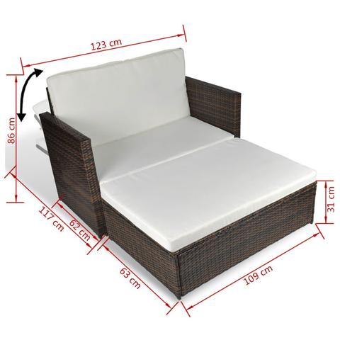 GARDEN SOFA POLY RATTAN SET (5 PCS) - Loungeout