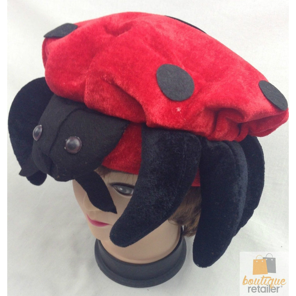 LADYBUG HAT Animal Novelty Cap Party Wear Fancy Dress Costume Accessory New