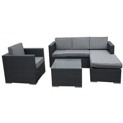 LOMBOK WICKER RATTAN SOFA LOUNGE 4PC SET