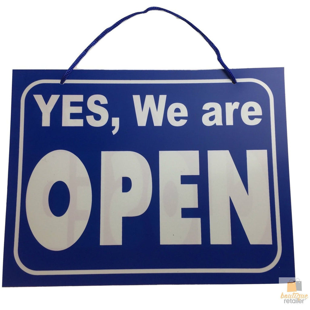9x OPEN / CLOSED SIGN Plastic Business Shop Window Sign 28cm x 21.5cm BULK New
