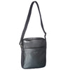 Pierre Cardin Unisex Genuine Italian Leather Shoulder Cross Body Bag - Black