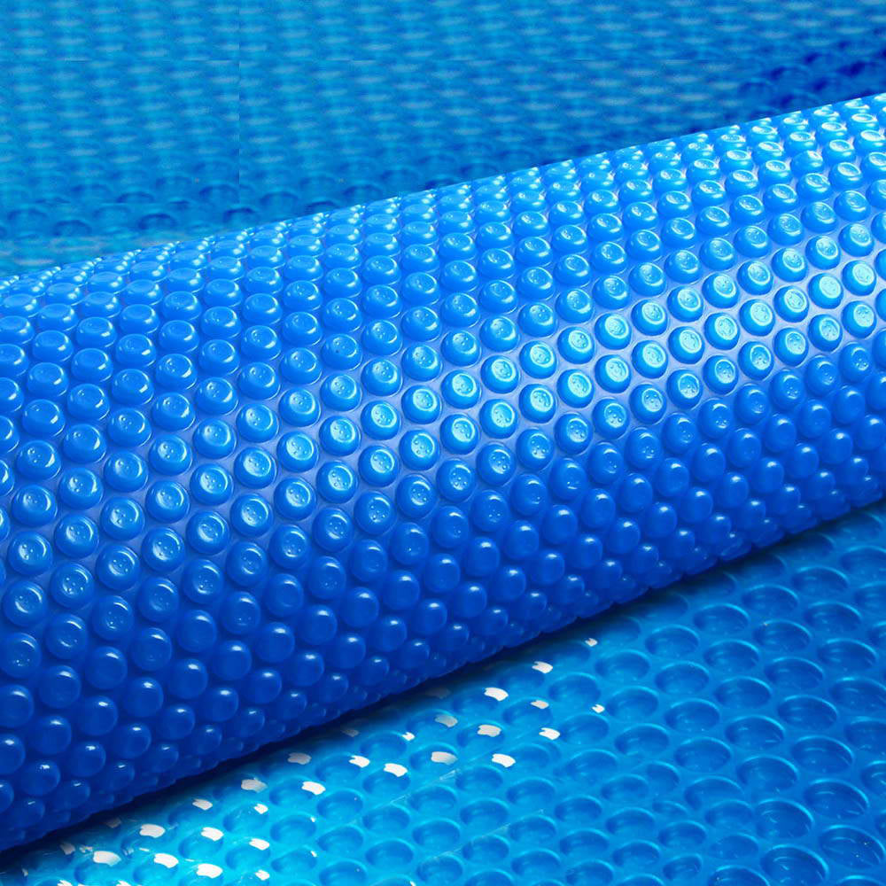 Aquabuddy 8M X 4.2M Solar Swimming Pool Cover 400 Micron Outdoor Bubble Blanket