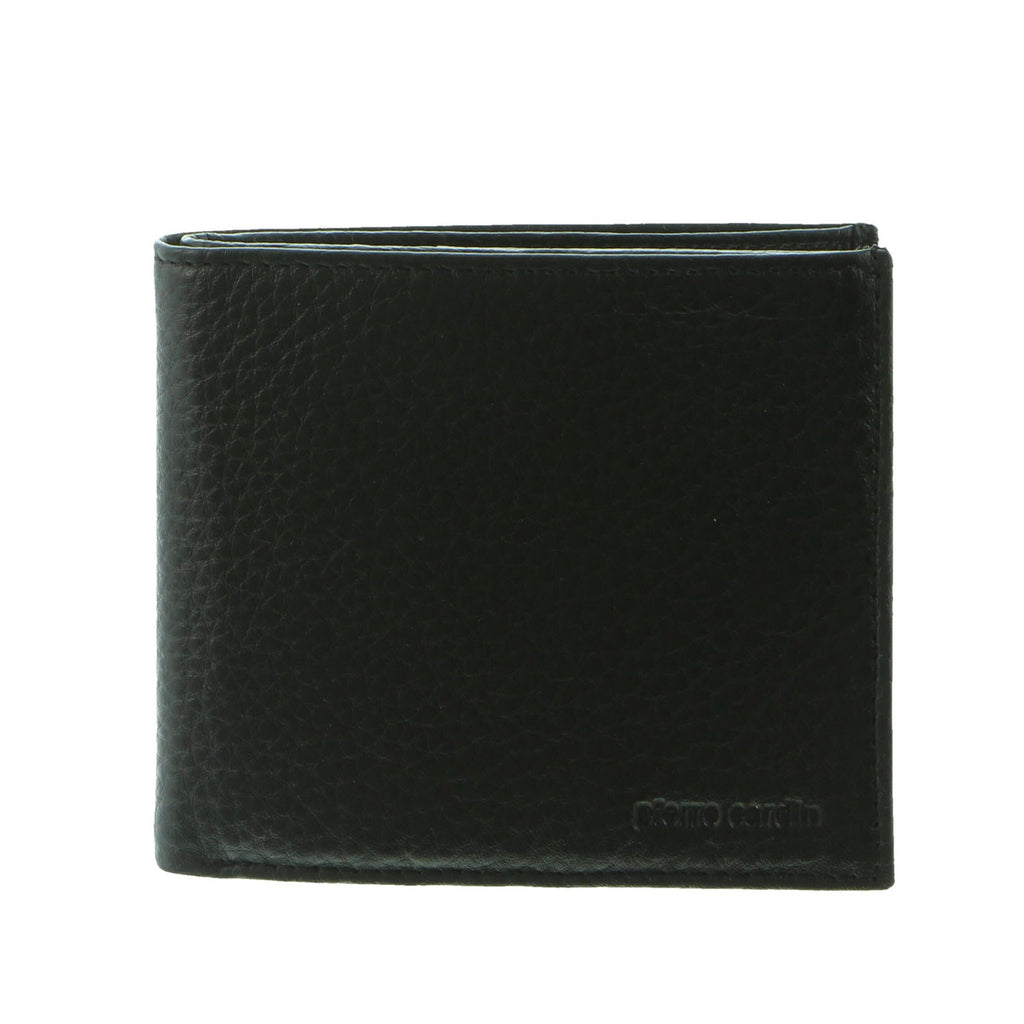 Pierre Cardin Men's Soft Italian Leather RFID Wallets Purse Card Holder - Black