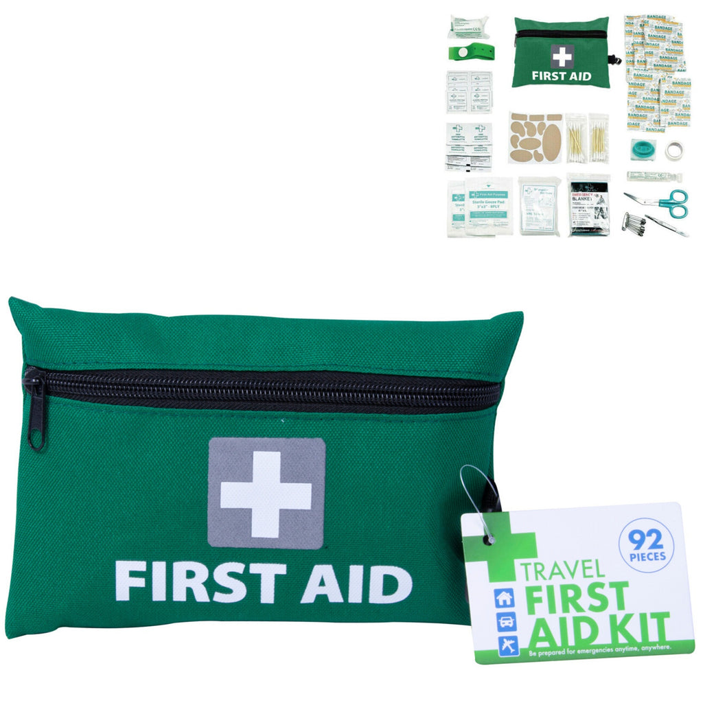 3x 92pcs TRAVEL FIRST AID KIT Medical Workplace Set Emergency Family Safety Office