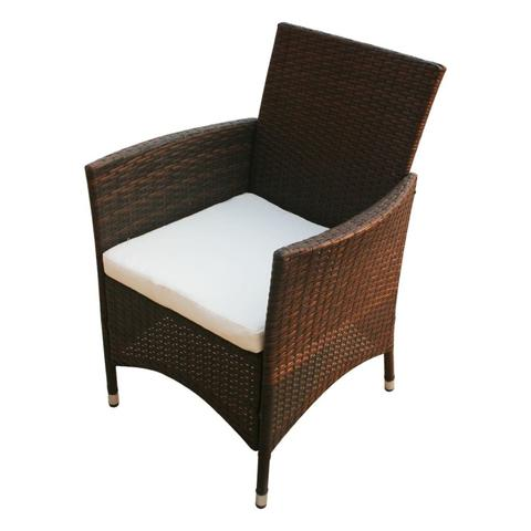 POLY RATTAN 13-PIECE GARDEN FURNITURE SET - BROWN - Loungeout