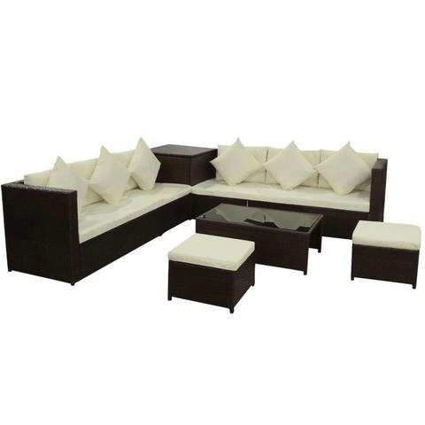 RATTAN GARDEN SOFA SET (26 PCS)