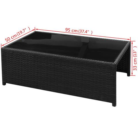 RATTAN GARDEN SOFA SET (29 PCS)