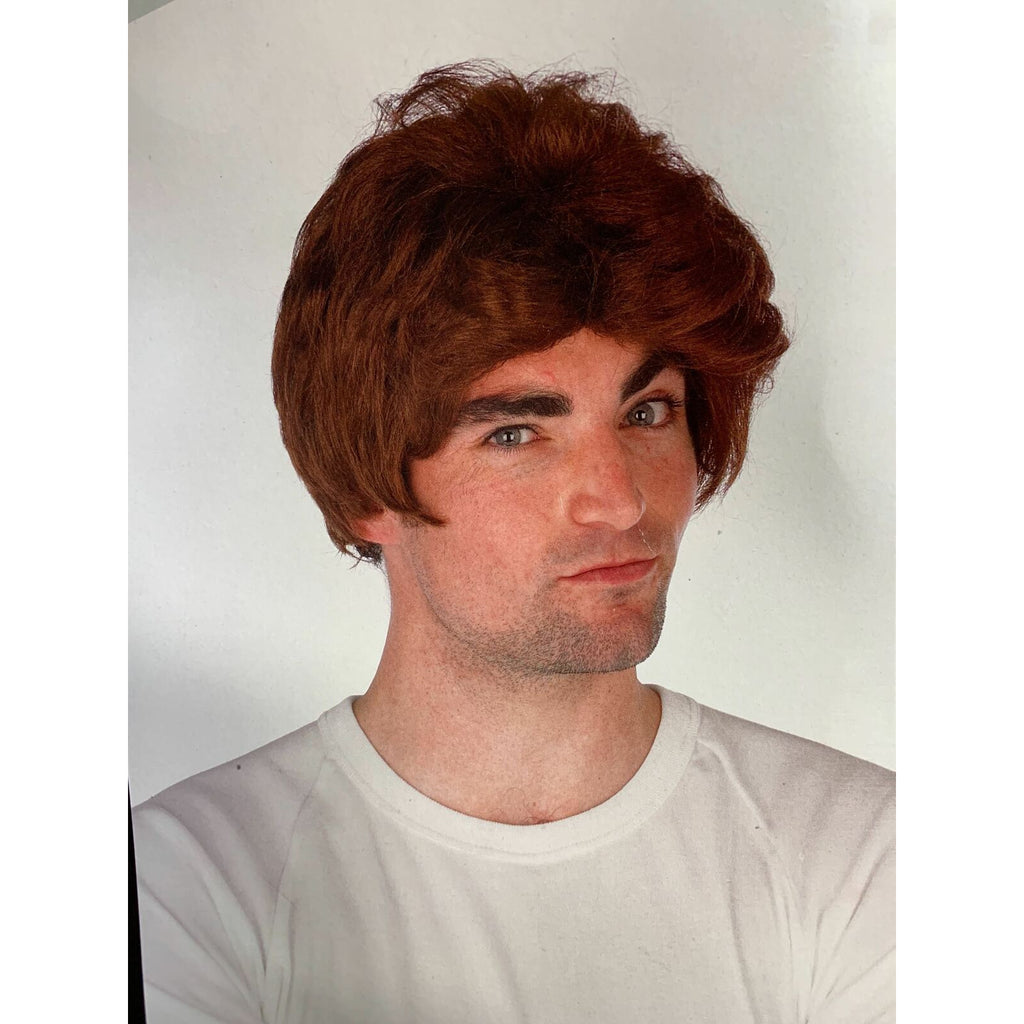 Men's Car Salesman Wig Party Costume Dress Up Fancy - Brown