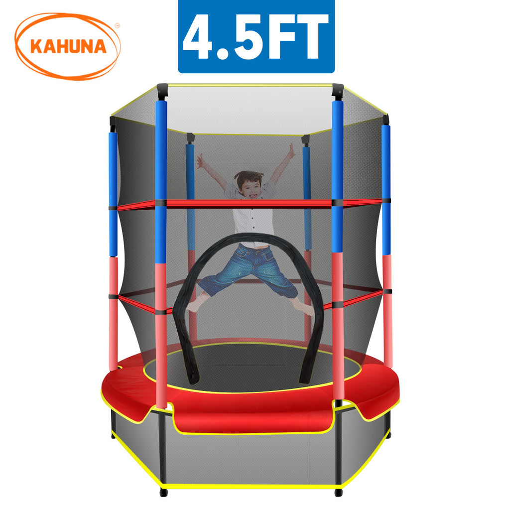 Kahuna Mini 4.5 ft Trampoline - Red Blue