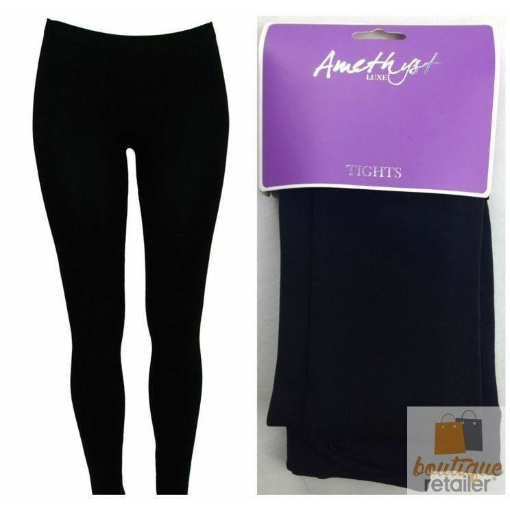 Ladies Thick Leggings Warm Stretch Skinny Pants Slim Fleecy Winter Comfy