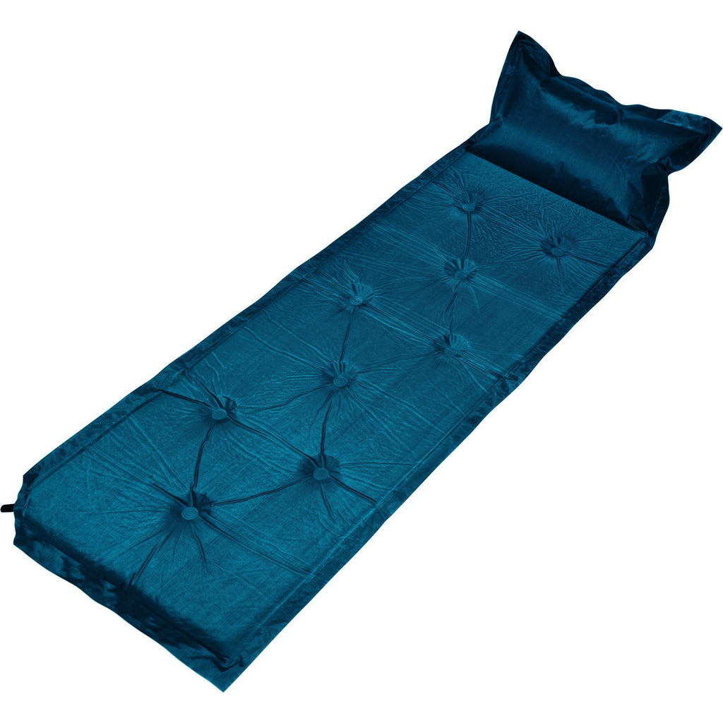 Trailblazer 9-Points Self-Inflatable Polyester Air Mattress With Pillow - NAVY